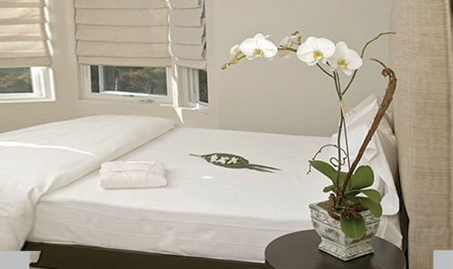 Private rooms with organic mattresses & linens